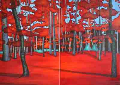 Libby Page Viens, On Va Bruler Les Feu Rouge - Diptych